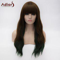 Adiors Long Neat Bang Instant Noodles Curly Colormix Synthetic Wig - COLORMIX