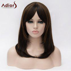 Adiors Medium Inclined Bang Colormix Straight Bob Synthetic Wig