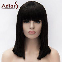 Adiors Medium Full Bang Natural Straight Synthetic Wig