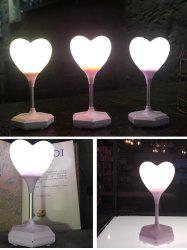 USB Charge Heart Shape Touch Switch LED Table Lamp