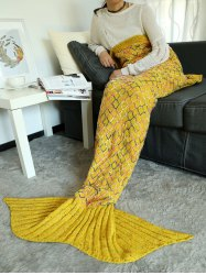 Home Decor Hollow Out Mesh Crochet Knit Mermaid Blanket Throw