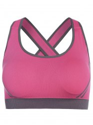 Low Impact Seamless Padded Sports Bra - ROSE RED