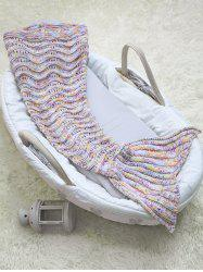 Wave Striped Baby Mermaid Knitted Blankets Personalized