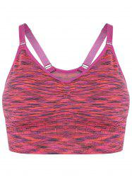 Space Dye Pullover Strappy Sports Bra - ROSE