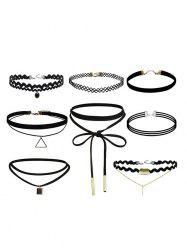 Vintage Geometric Bar Choker Necklace Set