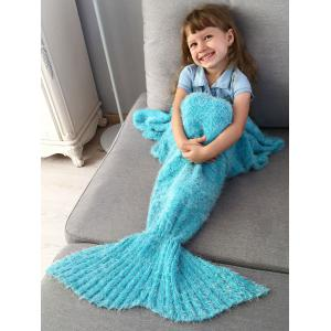 Enfants  'Crochet Tricoté Faux Mohair Mermaid Blanket Throw -