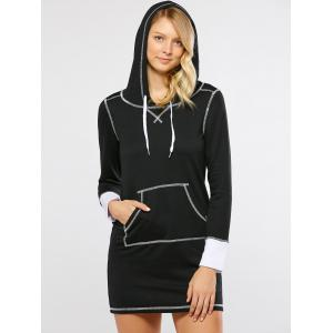 Kangaroo Pocket Hooded Dress