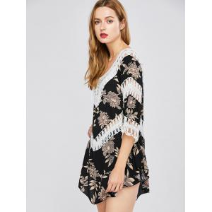 Floral Lace Panel Cover-Up -