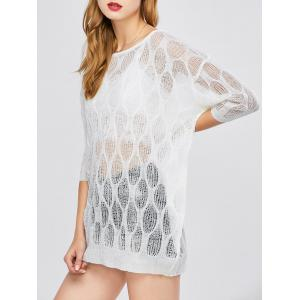 Batwing Sleeve Sheer Tunic Beach Cover-Up