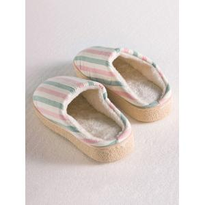 Sweet Color Striped Indoor Slippers - PINK SIZE(38-39)