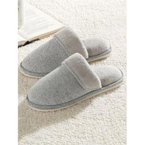 Cotton Fabric Flocking House Slippers -