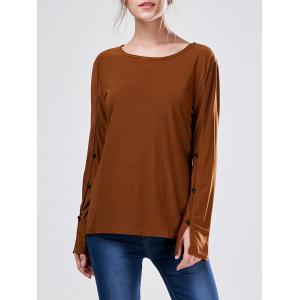 Long Sleeve Slit Tee