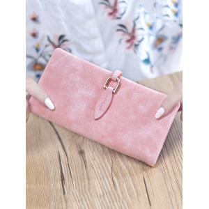 Faux Leather Bi Fold Clutch Wallet -