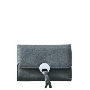 Faux Leather Tri Fold Small Wallet