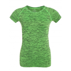 Short Sleeve Sports Running Gym T-Shirt - Neon Green - M