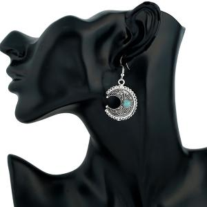Moon Fake Turquoise Drop Earrings