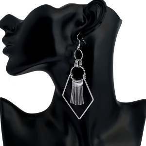Tassel Geometry Drop Earrings