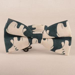 Ours Cartoon Imprimer Tie Bowtie Mouchoir Set -