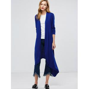 Manteau Longline Collarless Maxi Duster - Bleu XL