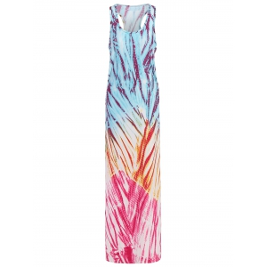 Bohemian Colored Printed Maxi Tank Dress