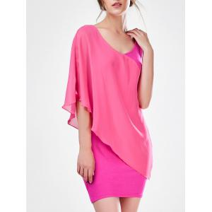 Asymmetric Mini Bodycon Dress