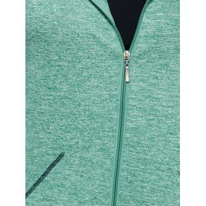 Zip Up Hooded Running Jacket -