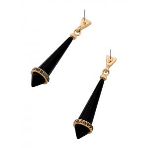 Rhinestone Resin Geometry Drop Earrings -