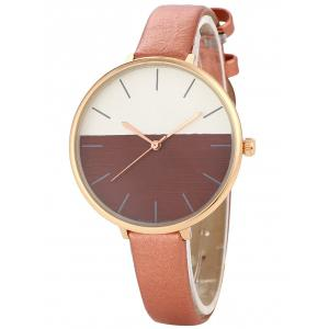 Color Block Quartz Watch - Brown