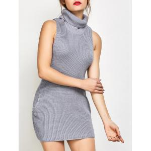 Roll Neck Tank Fitted Sweater Dress