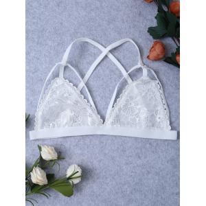 Scalloped Strappy Lace Triangle Bra