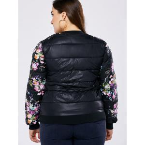 Plus Size Coat Floral Quilted -
