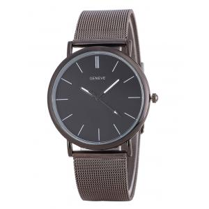 Metal Mesh Band Analog Watch - Frost