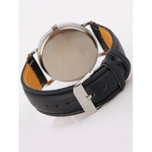 Faux Leather Roman Numeral Watch - BLACK