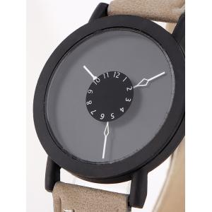 Faux Leather Band Analog Watch -