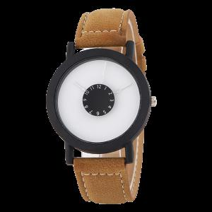Faux Leather Band Analog Quartz Watch