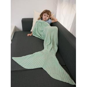 Keep Warm Crochet Knitting Mermaid Tail Style Blanket For Kids -