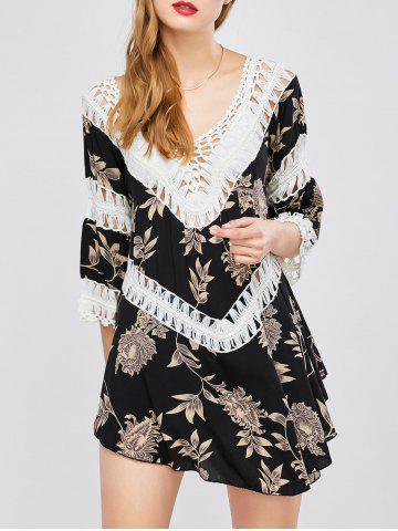 Latest Floral Lace Panel Cover-Up