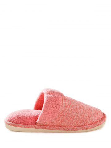 Discount Faux Fur Padded Indoor Slippers - SIZE(39-40) PINK Mobile