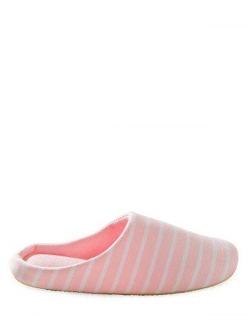 Hot Sweet Color Stripe Indoor Slippers PINK 37
