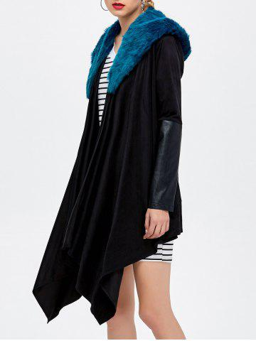 Discount Belted Asymmetrical Hooded Coat