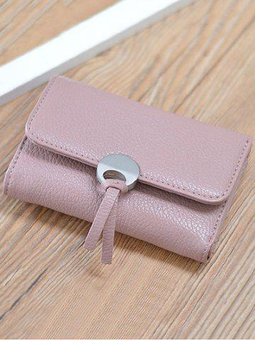 Buy Faux Leather Tri Fold Small Wallet - PINK  Mobile