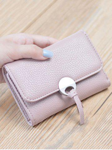 Store Faux Leather Tri Fold Small Wallet - PINK  Mobile