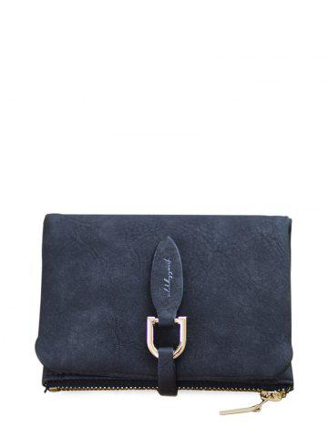 Faux Leather Bi Fold Small Wallet - Black