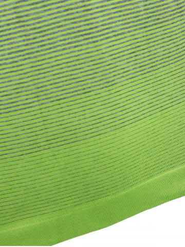 Best Ombre Long Sleeve Running Gym Top With Thumb Hole - L NEON GREEN Mobile