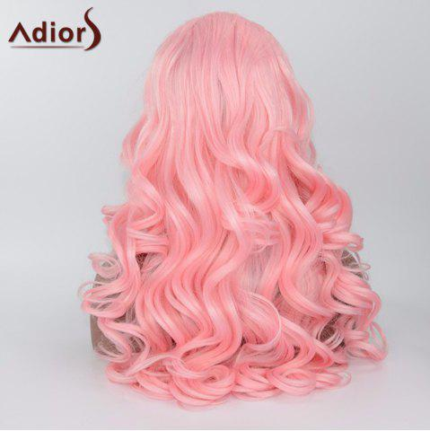 Cheap Adiors Long Body Wave Side Parting Synthetic Lace Front Wig - SHALLOW PINK  Mobile