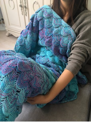 Outfits Crochet Fish Scale Design Ombre Wrap Mermaid Blanket - COLORMIX  Mobile