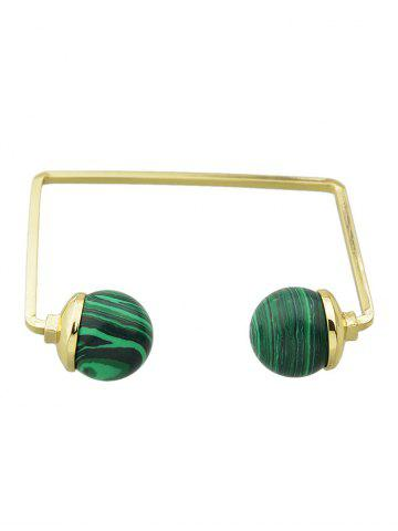 Store Faux Gem Ball Cuff Bracelet GREEN
