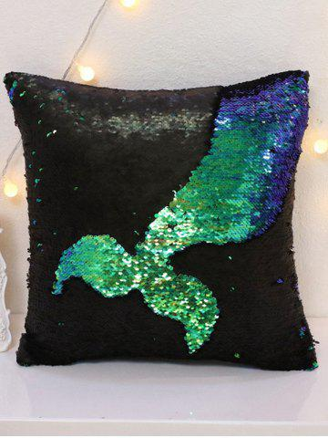 Trendy Two Tone Bling Sequins DIY Sofa Throw Pillow Case COLORMIX