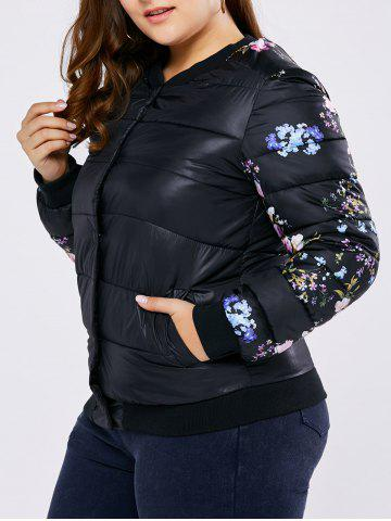 Trendy Plus Size Floral Quilted Coat