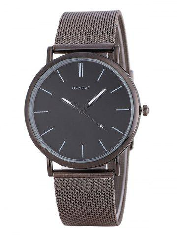 Metal Mesh Band Analog Watch - Frost - L